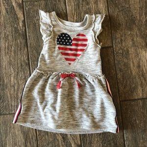 🌵5 for $30 Girls American Flag Heart Dress
